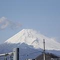 伊豆長岡站的富士山景