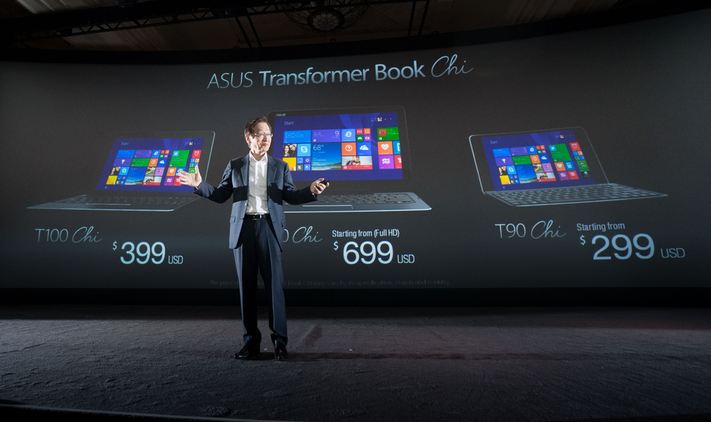 S1920x1080_ASUS Transformer Book Chi T300 starts at $799 , T100 starts at $399, and T90 starts at $299