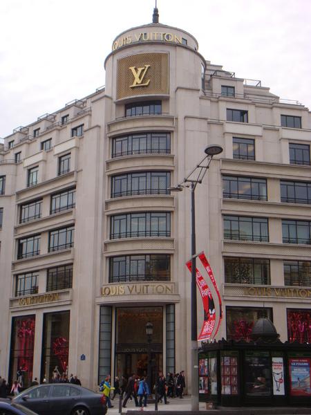 香榭麗舍大道上LV的總店@巴黎