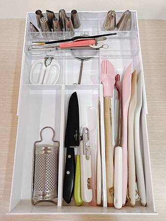 tower伸縮式收納盒(白) 山崎收納 YAMAZAKI 廚房收納 餐具收納 伸縮式 自由調整寬度 湯匙叉筷子