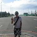 抵達馬公機場外