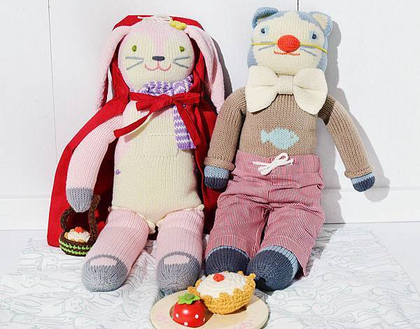blabla娃娃衣服-小丑與小紅帽完裝之野餐情境