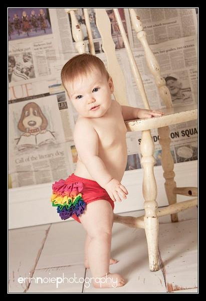 Rainbow Mini Ruffle Bloomer-1