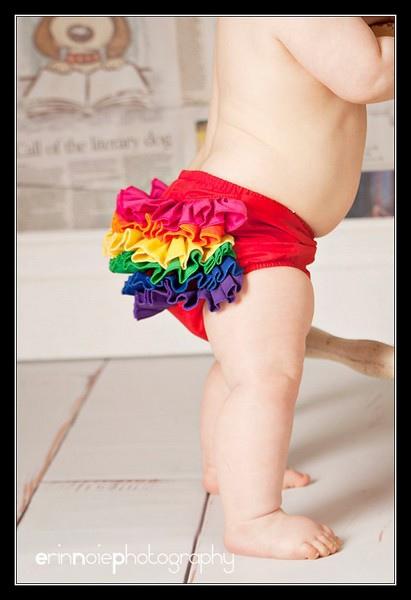 Rainbow Mini Ruffle Bloomer-2