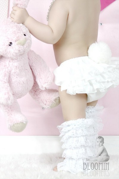 White Bunny Bear Ruffle Bloomer