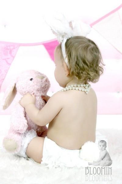 White Bunny Bear Ruffle Bloomer-1