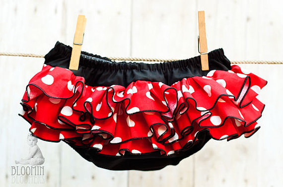 Minnie Mouse Ruffle Bloomer