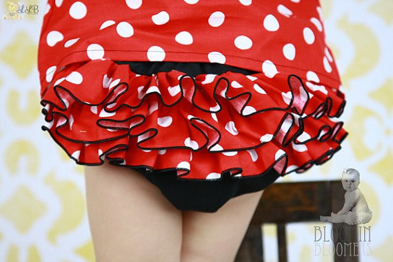 Minnie Mouse Ruffle Bloomer-1