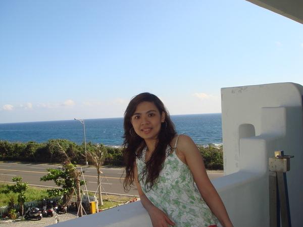 從陽台往外就能看到大海喔!
