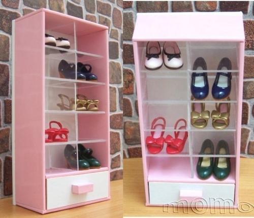 粉紅鞋櫃靴子包包展示櫃01
