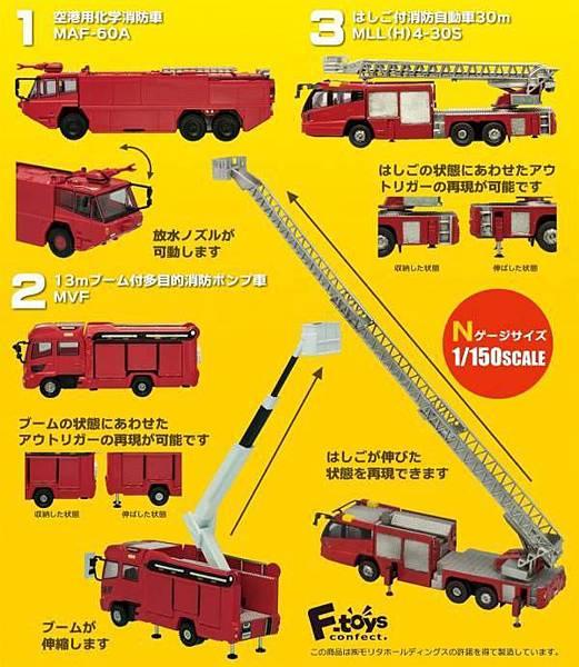 F-Toys 消防車02