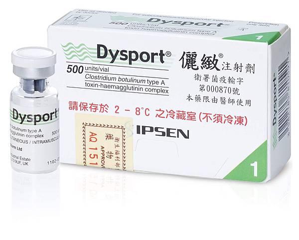 英國Dysport肉毒桿菌素的瓶裝照片.jpg