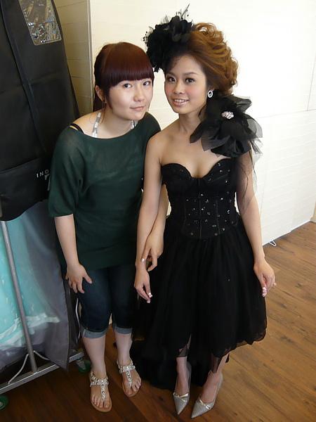 棚內-黑色禮服造型二