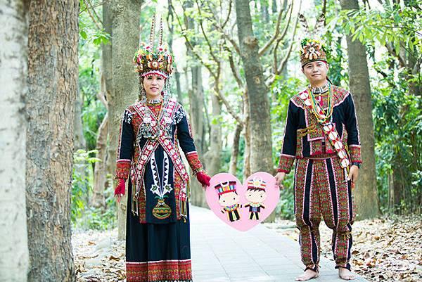 高雄婚紗禮服攝影~自助婚紗~排灣族~原住民服飾婚紗((頭目和公主))分享推薦