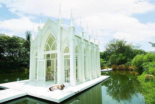 自助婚紗新人【推薦】 人正&芳儀 主題式婚紗【攝影】 歌德水上教堂