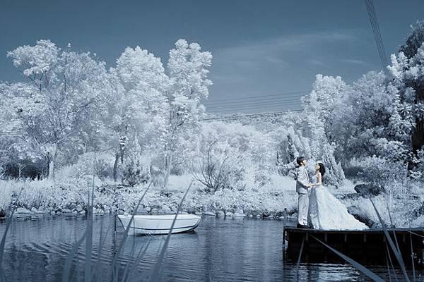 紅外線雪景婚紗攝影