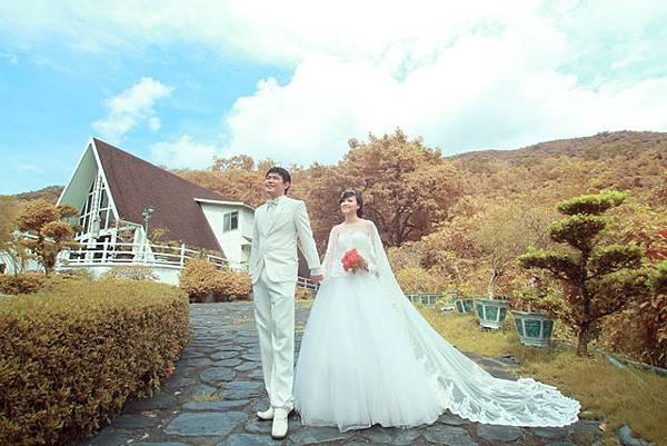 高雄楓葉婚紗攝影新人