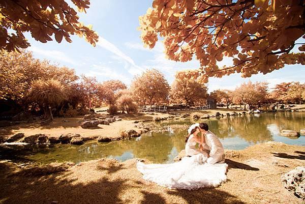 紅外線楓葉婚紗攝影