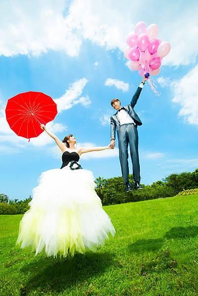 汽球漂浮婚紗攝影
