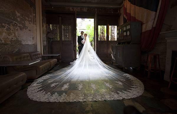 高雄自助婚紗新人推薦-18尺長頭紗