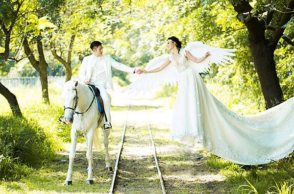 高雄屏東婚紗攝影創意:天使之戀