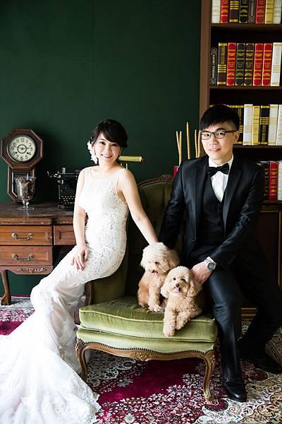 毛小孩寵物(紅貴賓)婚紗照