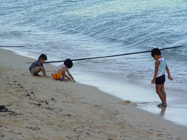 海邊的小朋友