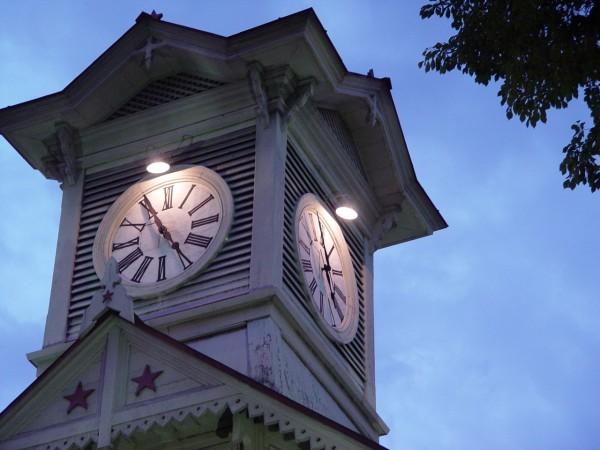傍晚的計時台
