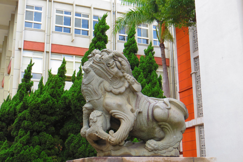 市議會前石獅子3