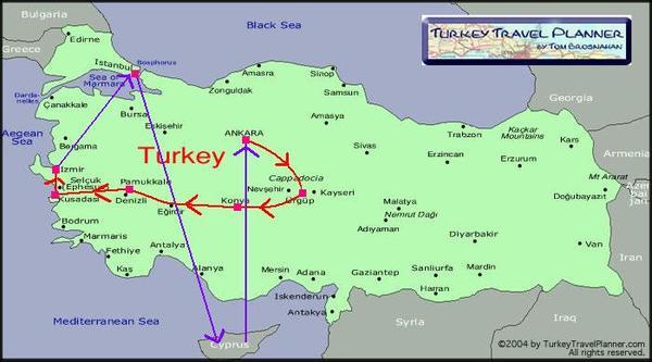 土耳其&賽普勒斯 旅行蹤跡..這次只有到中部..
