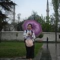 一到伊斯坦堡就下起大雨..買了4里拉的花花傘