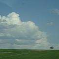 藍天白雲的