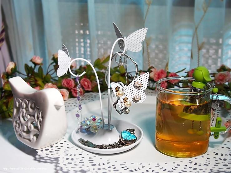 HOLA【Umbra小女生泡茶器+蝴蝶首飾架】-1-1