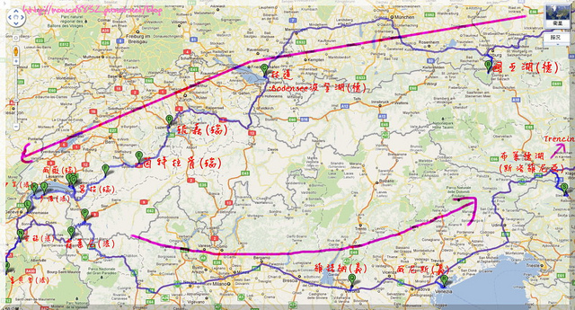 2011 歐洲夏季旅行之帶著爸媽趴趴走(路線圖三)-1