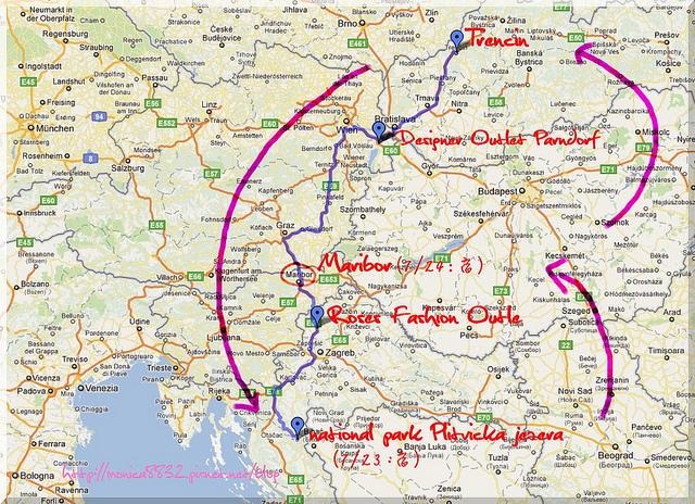 2011 歐洲夏季旅行之帶著爸媽趴趴走(路線圖二)-1