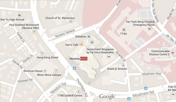 map of oasia hotel singapore