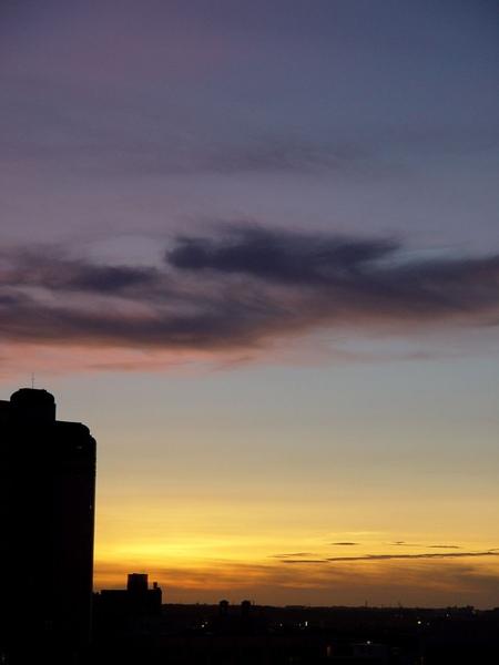 傍晚油畫般的天空