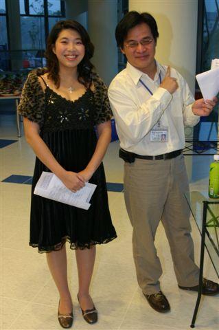 我和男主持李博士的合照