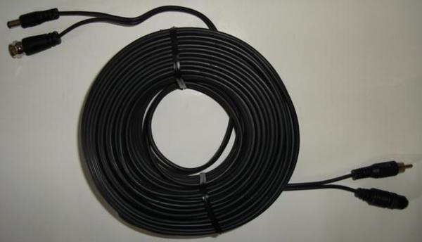 定製線材及各式配件20米訊號+電源二合一線TS-CD-AV20專業監視器系統紅外線攝影機 02-27858123 安裝規劃