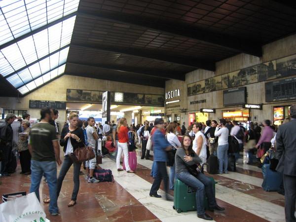繁忙的火車站