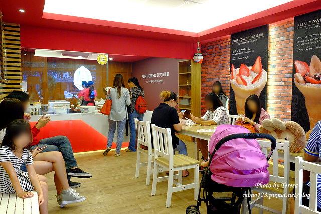 1441121015 419119368 - 【台中西區.甜點】Fun Tower日式可麗餅.台南超人氣的日式可麗餅來台中展店,創意新吃法,把千層派、馬卡龍、可麗露、布朗尼通通加入可麗餅裡