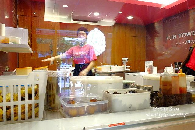 1441121016 166504288 - 【台中西區.甜點】Fun Tower日式可麗餅.台南超人氣的日式可麗餅來台中展店,創意新吃法,把千層派、馬卡龍、可麗露、布朗尼通通加入可麗餅裡