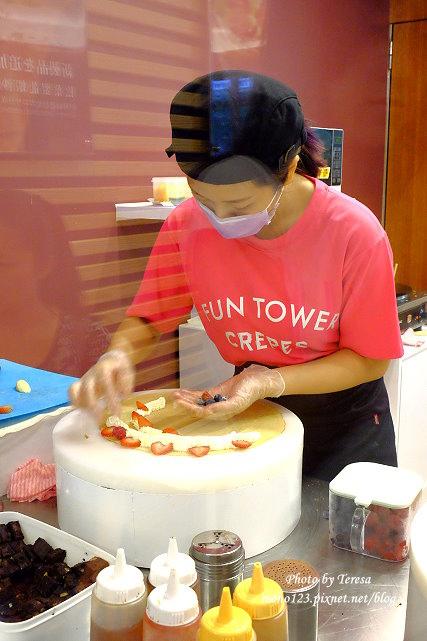1441121020 1888230483 - 【台中西區.甜點】Fun Tower日式可麗餅.台南超人氣的日式可麗餅來台中展店,創意新吃法,把千層派、馬卡龍、可麗露、布朗尼通通加入可麗餅裡