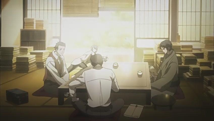 動畫中的四人