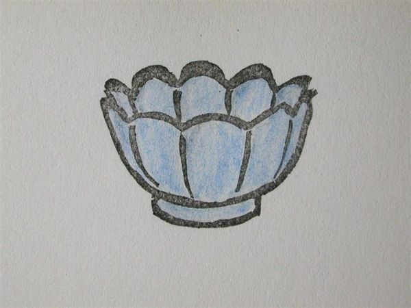 35 青瓷蓮花式溫碗