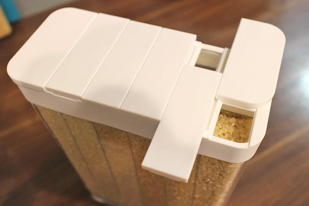 tower分隔儲米盒(白) 山崎生活美學 山崎收納 Yamazaki 廚房收納 分裝 米糧 池上米