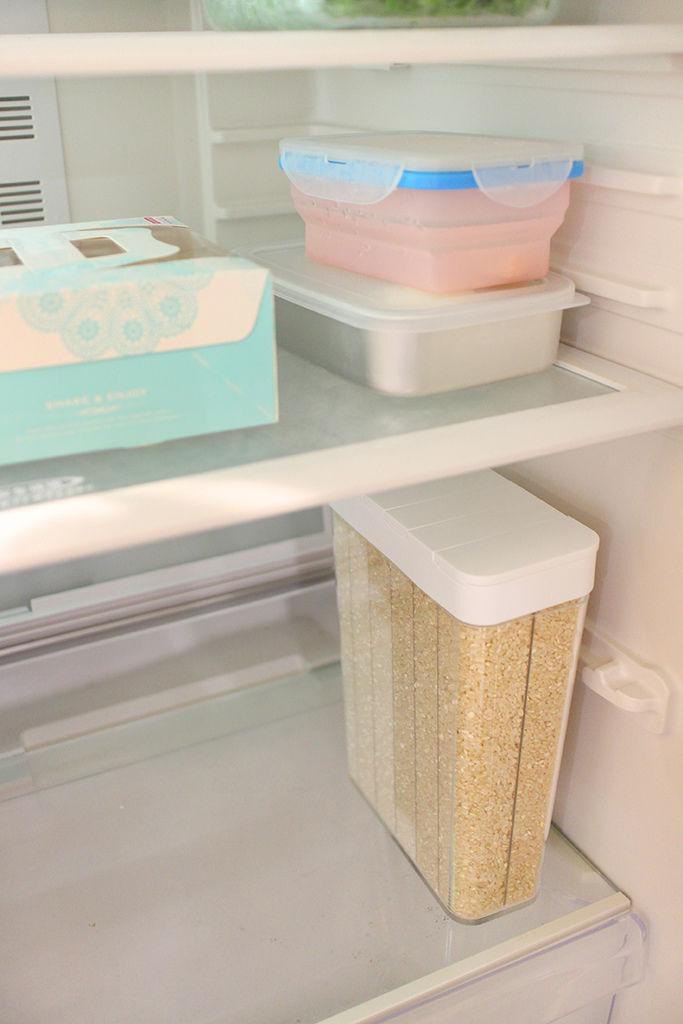 tower分隔儲米盒(白) 山崎生活美學 山崎收納 Yamazaki 廚房收納 分裝 米糧 池上米 輕鬆放入冰箱