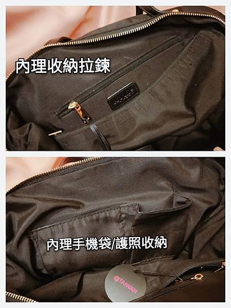 APPLIE 包包評價 推薦款式  Bobby 鎖鏈斜背腰包 浪跡天涯旅行袋 放置行李箱上 防水包包_190611_34.jpg