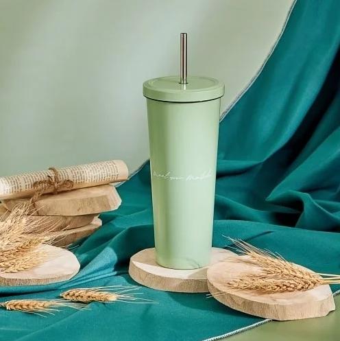 莫蘭迪系列不銹鋼吸管杯850ml-白玉抹茶.PNG