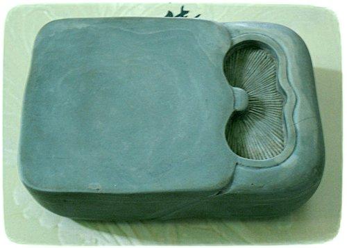 雕香菇小方硯